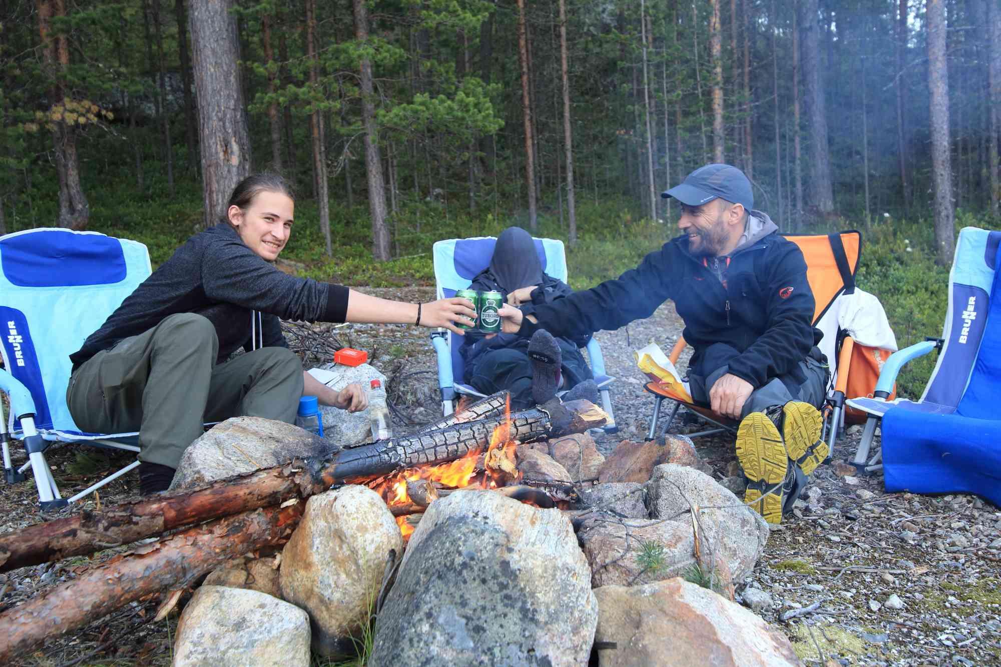 Na Finskem je mozno kampirati prakticno na vsakem koraku