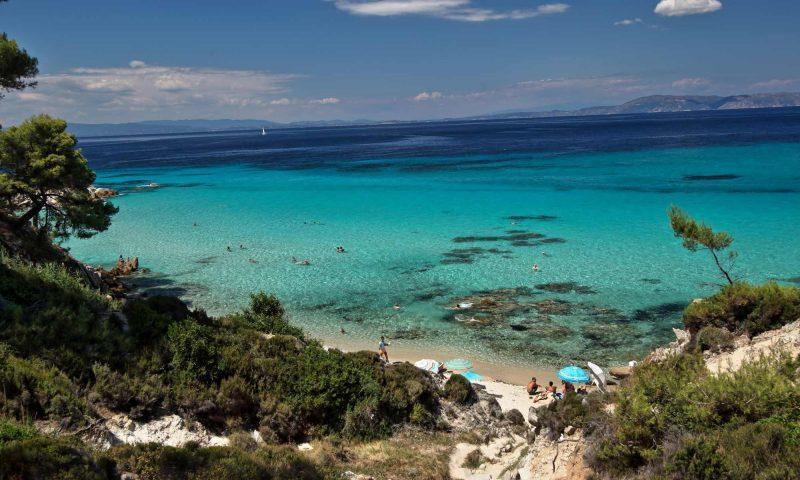 Vzhodna obala Sithonije, severna Grčija, Halkidiki